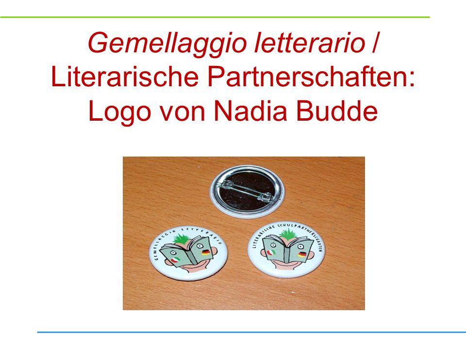 Gemellaggio letterario / Literarische Partnerschaften: Logo von Nadia Budde