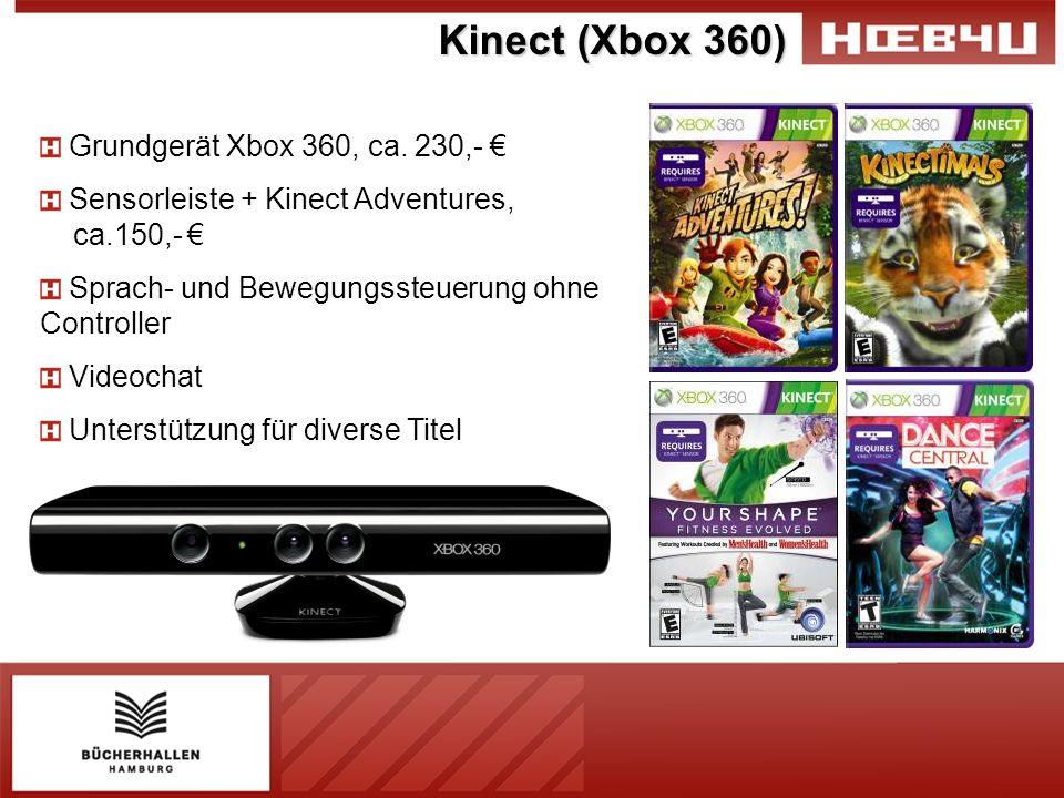 Kinect (Xbox 360) Grundgerät Xbox 360, ca. 230,- €