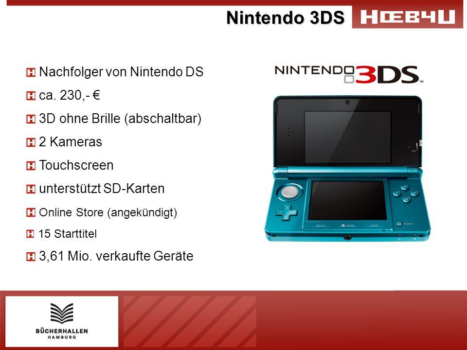 Nintendo 3DS Nachfolger von Nintendo DS ca. 230,- €