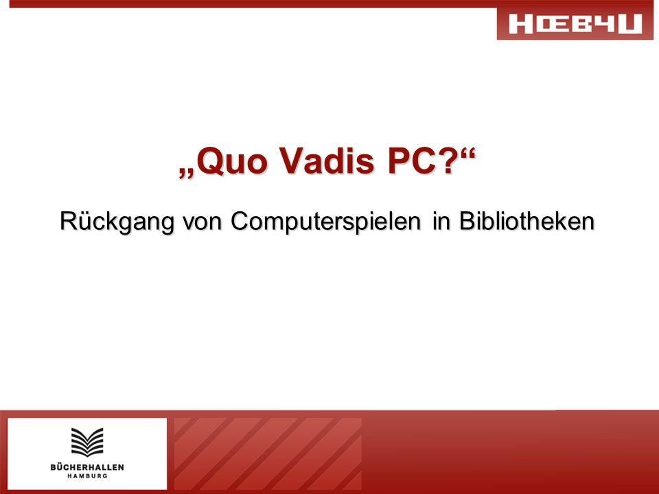 Rückgang von Computerspielen in Bibliotheken