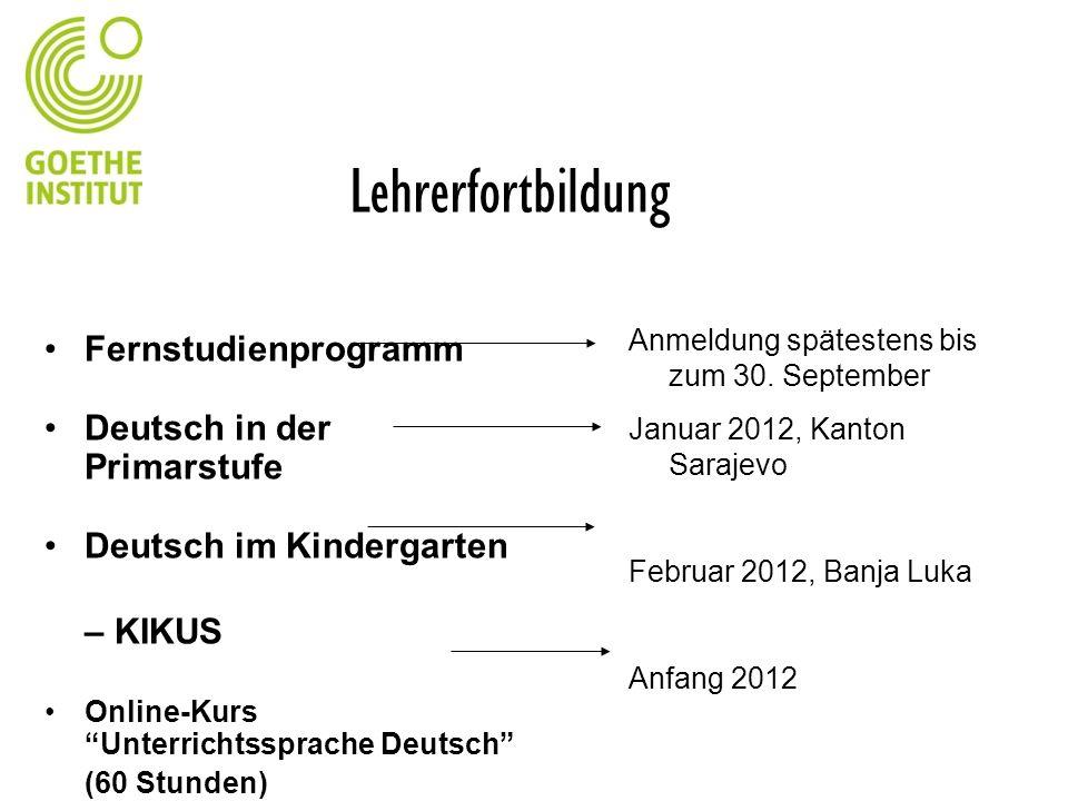 Lehrerfortbildung Fernstudienprogramm Deutsch in der Primarstufe