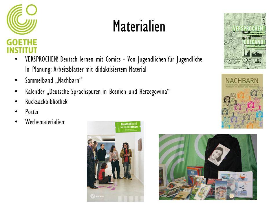 MaterialienVERSPROCHEN! Deutsch lernen mit Comics - Von Jugendlichen für Jugendliche. In Planung: Arbeitsblätter mit didaktisiertem Material.