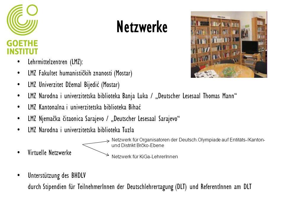 Netzwerke Lehrmittelzentren (LMZ):