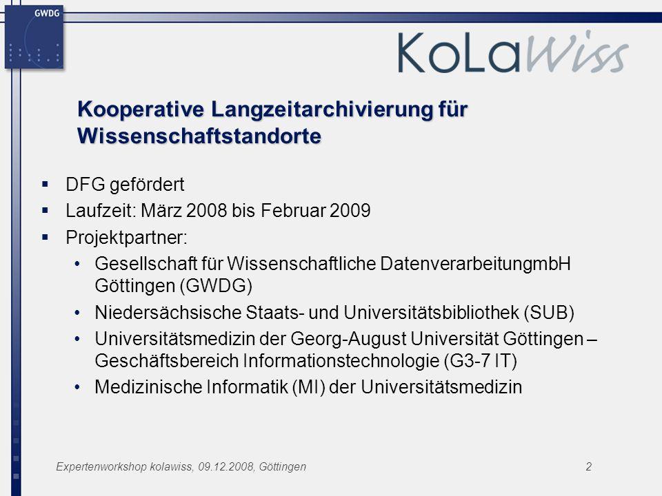 Kooperative Langzeitarchivierung für Wissenschaftstandorte