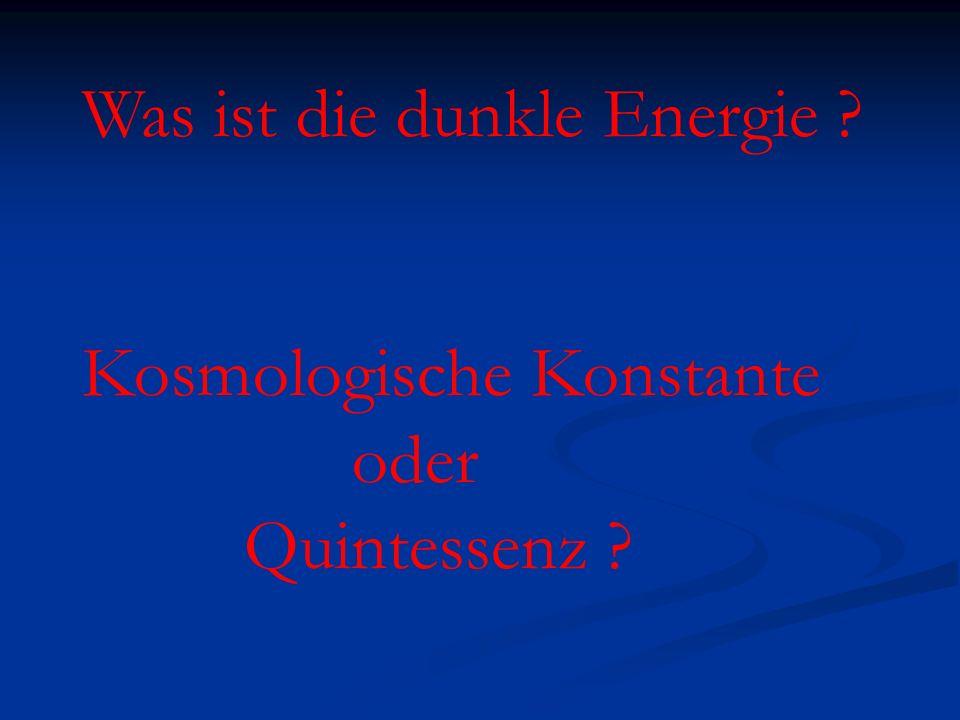 Was ist die dunkle Energie
