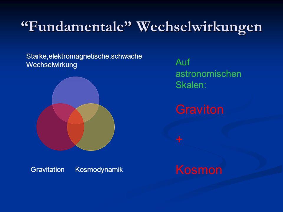 Fundamentale Wechselwirkungen