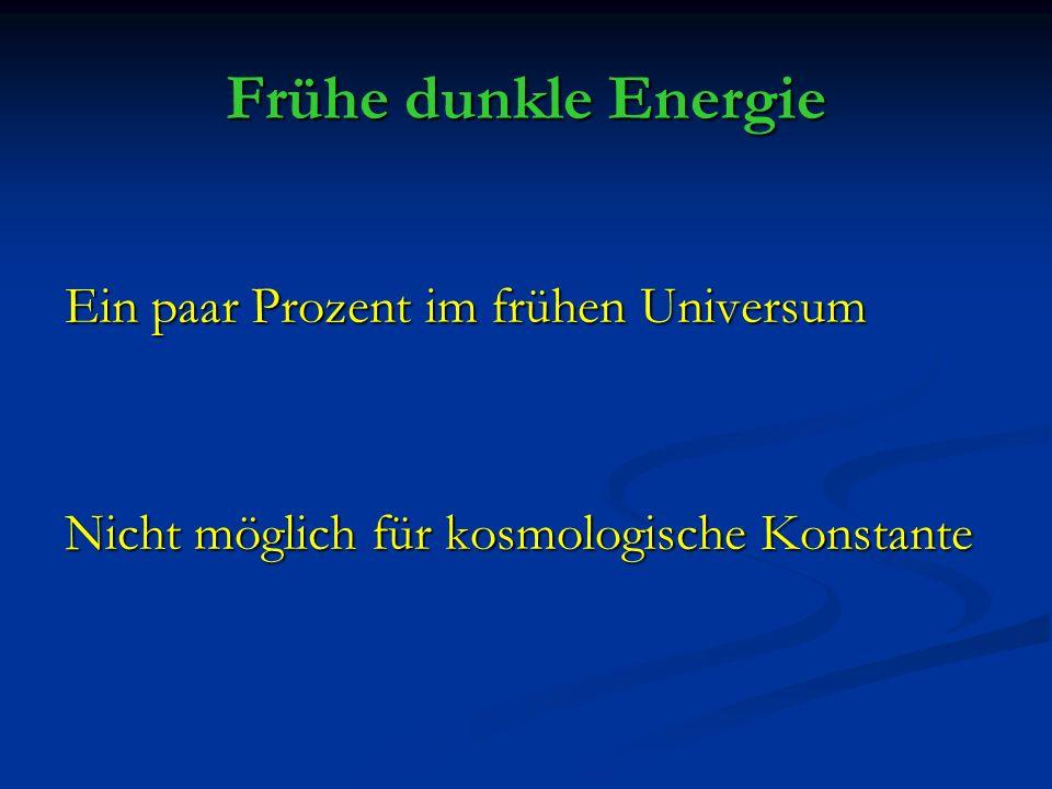 Frühe dunkle Energie Ein paar Prozent im frühen Universum