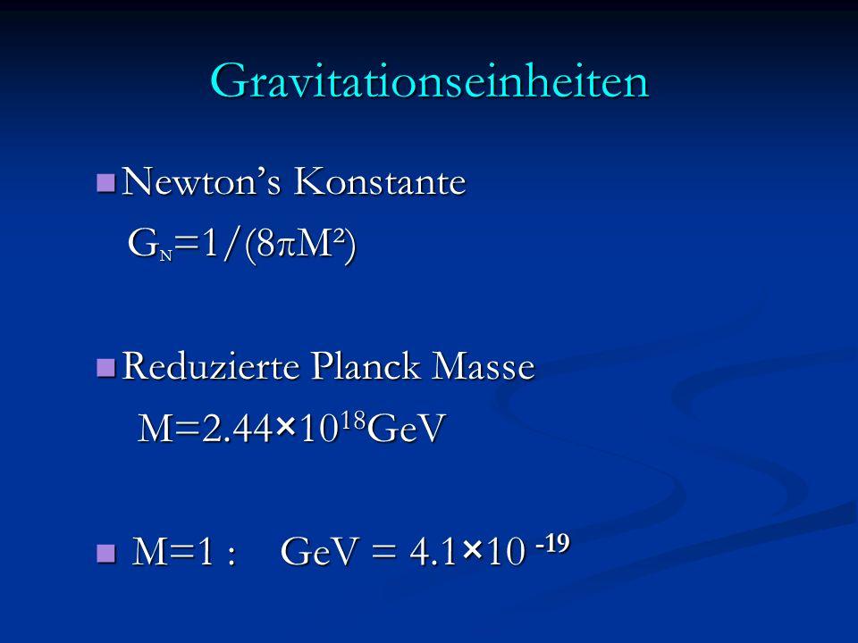 Gravitationseinheiten