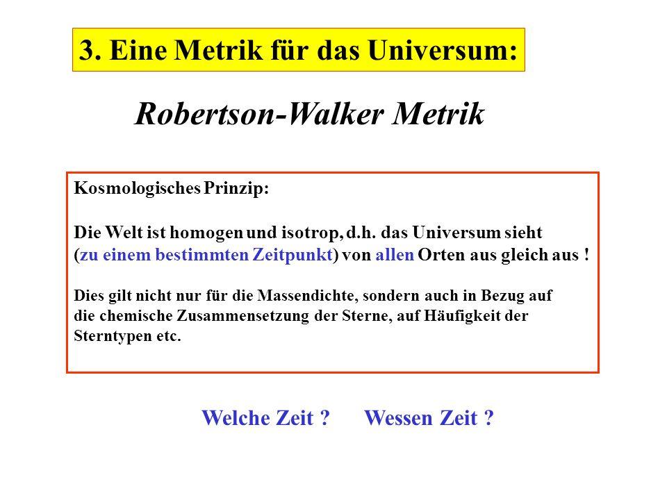 Robertson-Walker Metrik
