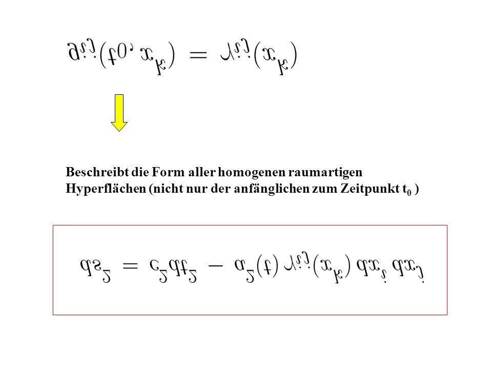 Beschreibt die Form aller homogenen raumartigen