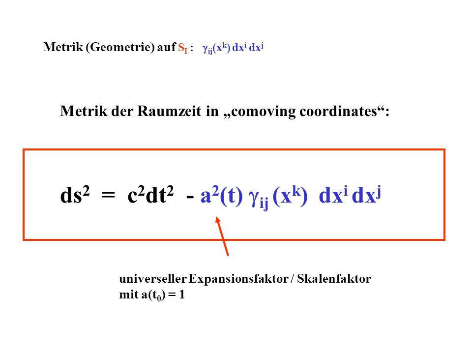 ds2 = c2dt2 - a2(t) gij (xk) dxi dxj