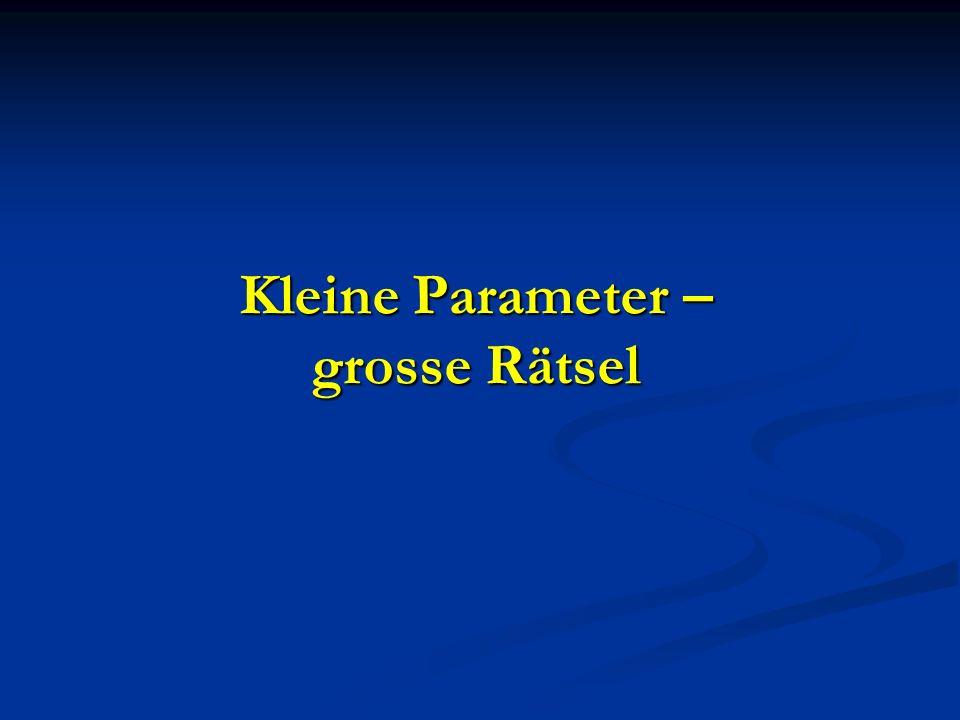 Kleine Parameter – grosse Rätsel