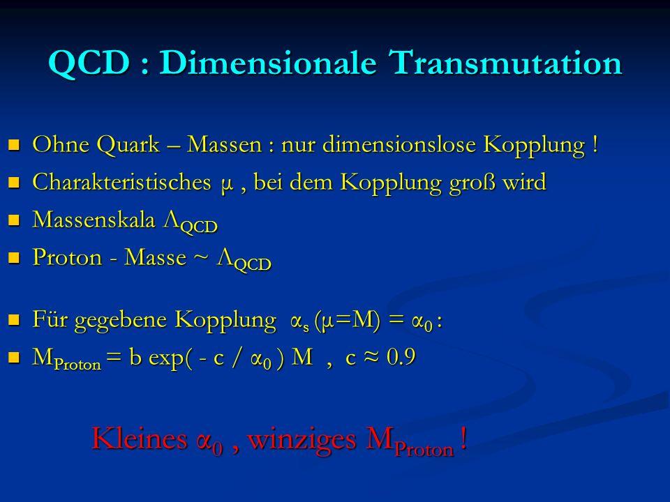 QCD : Dimensionale Transmutation