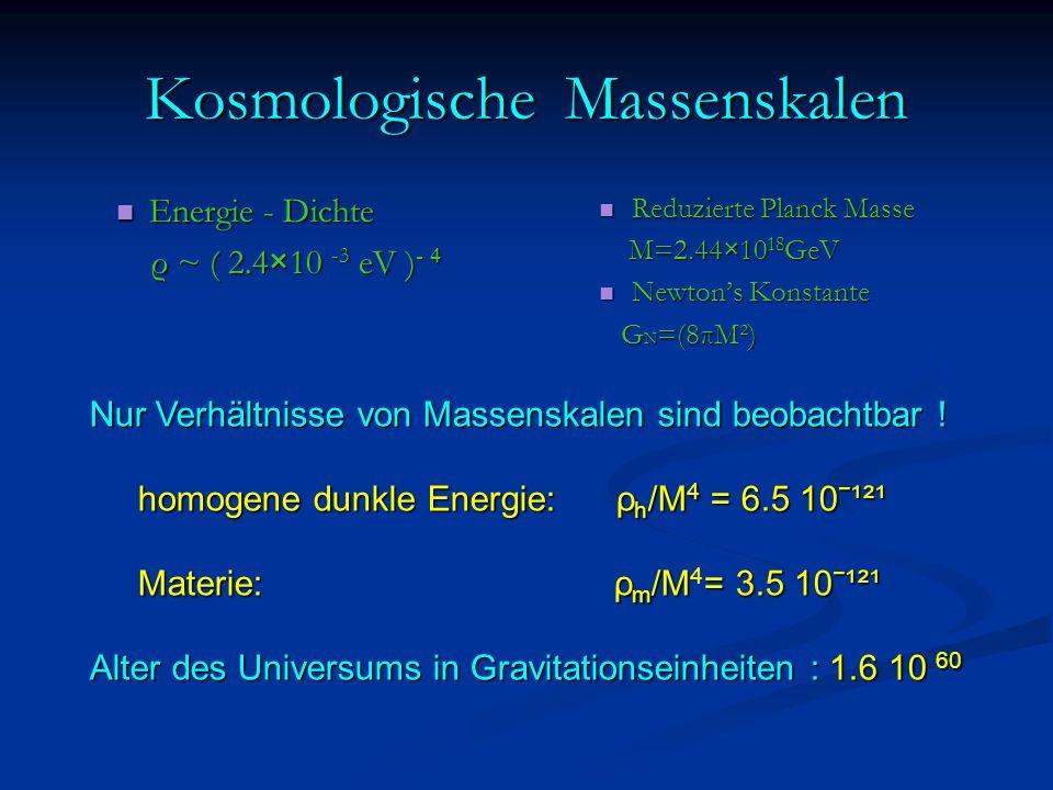 Kosmologische Massenskalen