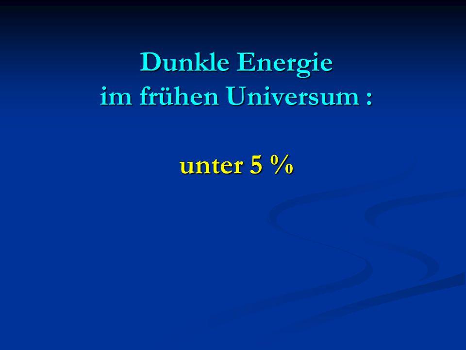 Dunkle Energie im frühen Universum : unter 5 %