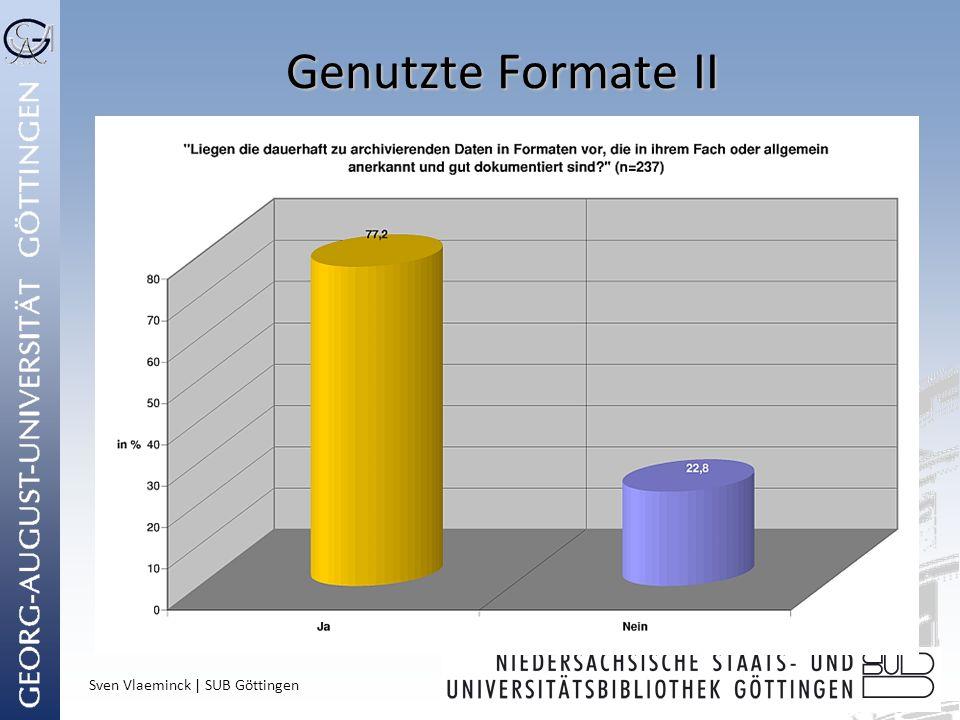 Genutzte Formate II