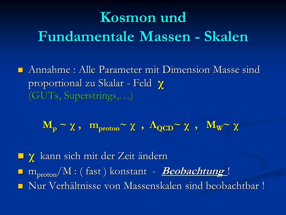 Kosmon und Fundamentale Massen - Skalen