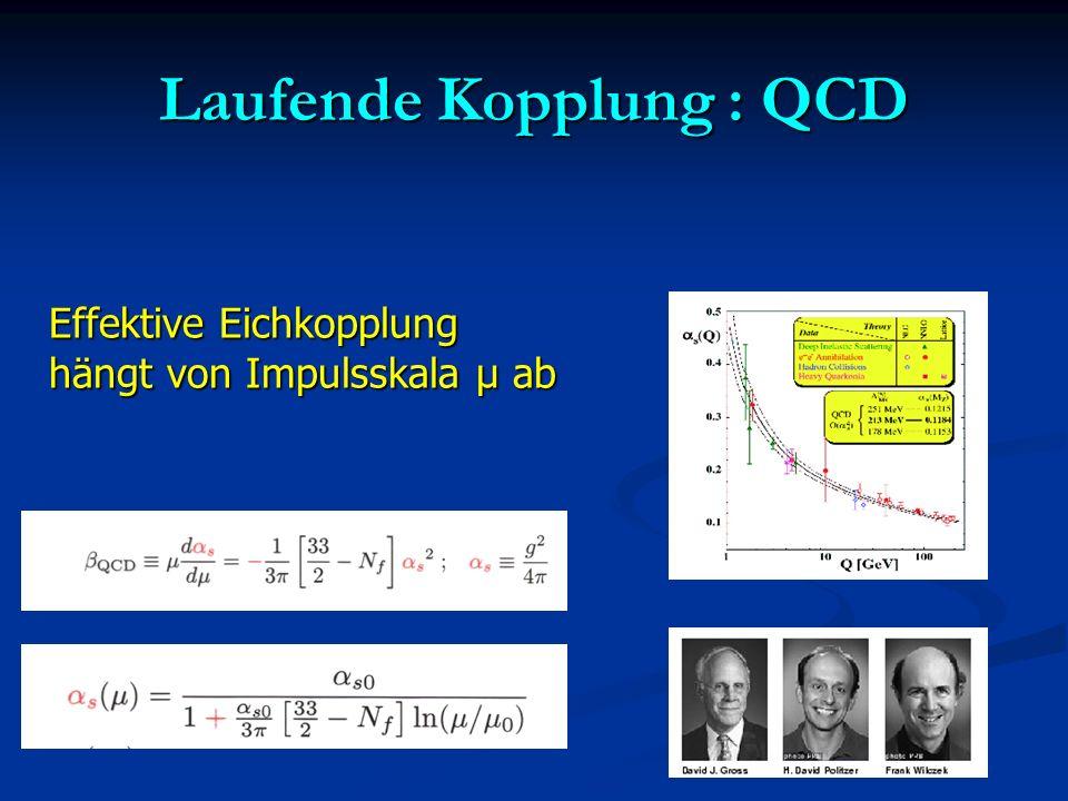 Laufende Kopplung : QCD
