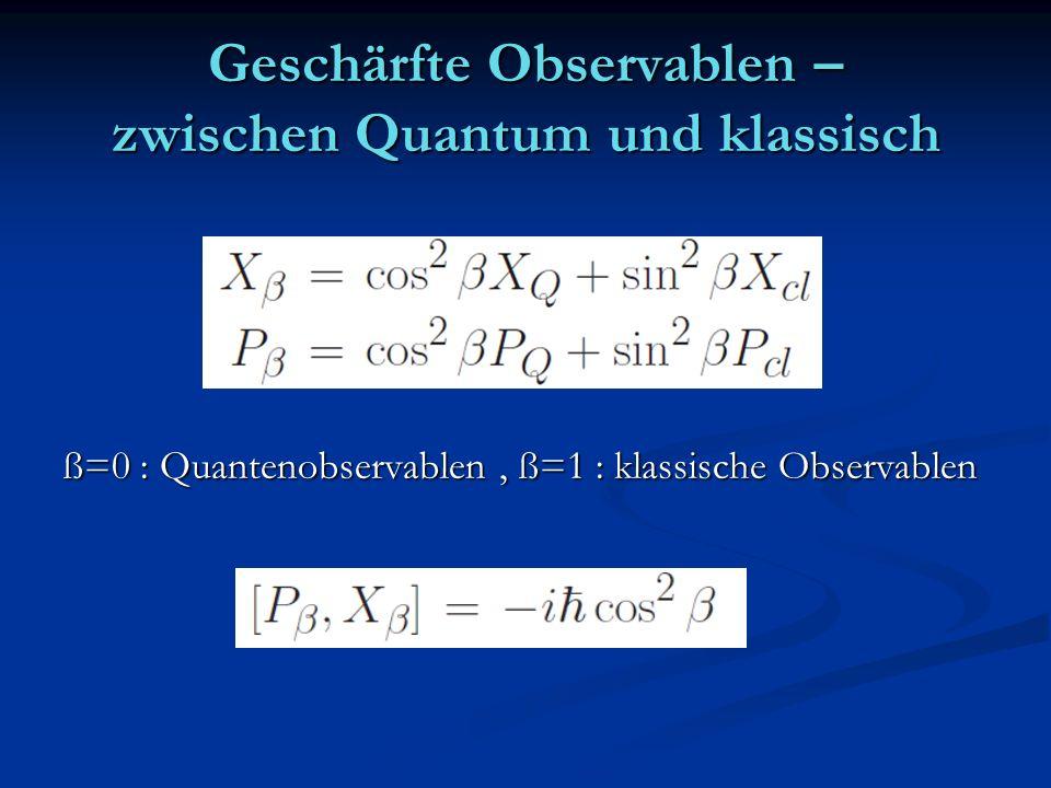 Geschärfte Observablen – zwischen Quantum und klassisch