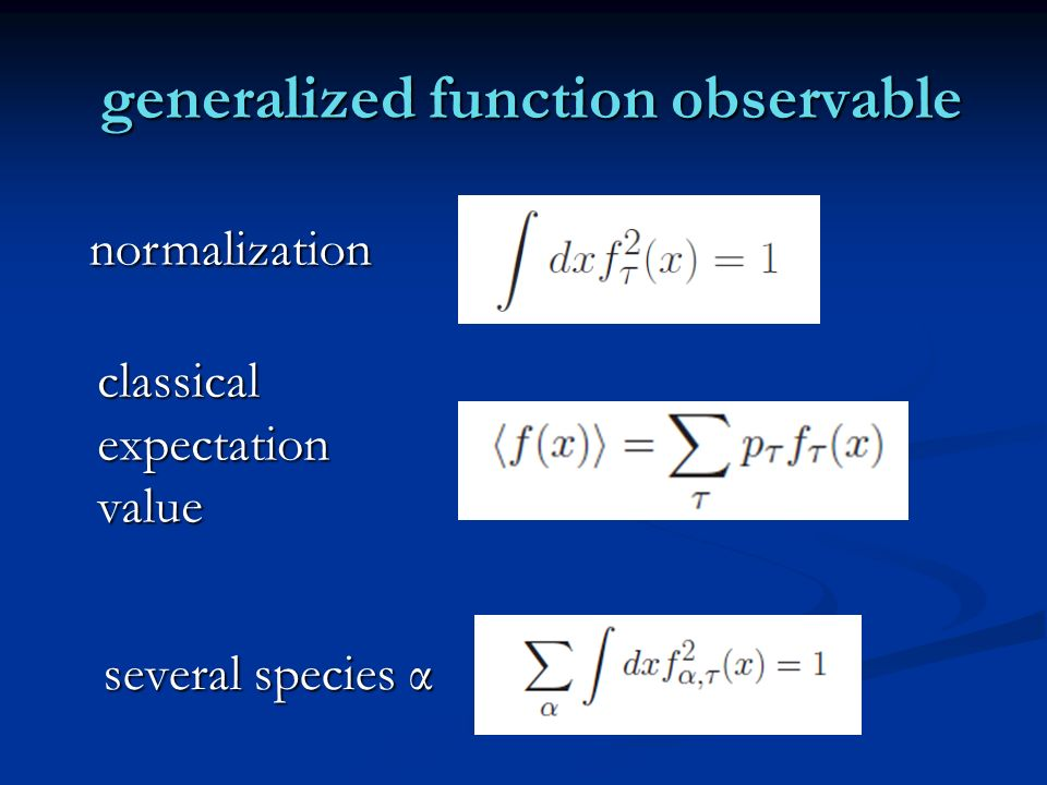 generalized function observable