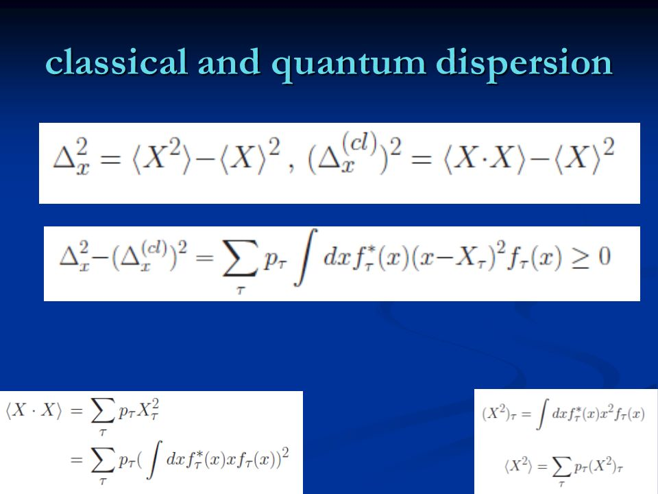 classical and quantum dispersion