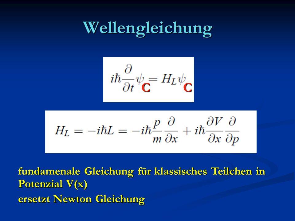 Wellengleichung C. C.
