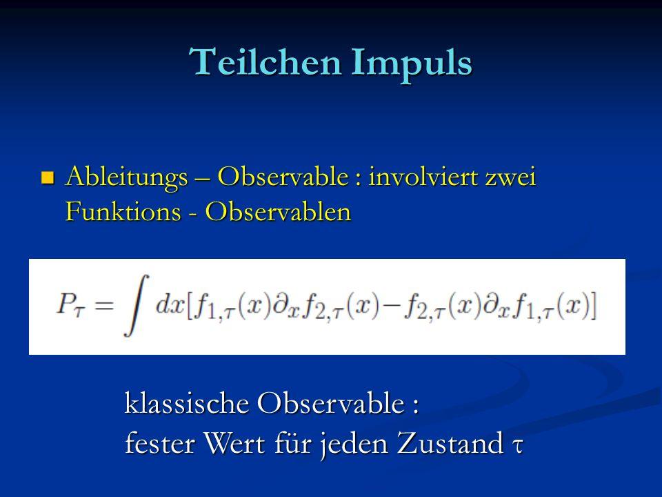 Teilchen Impuls klassische Observable :