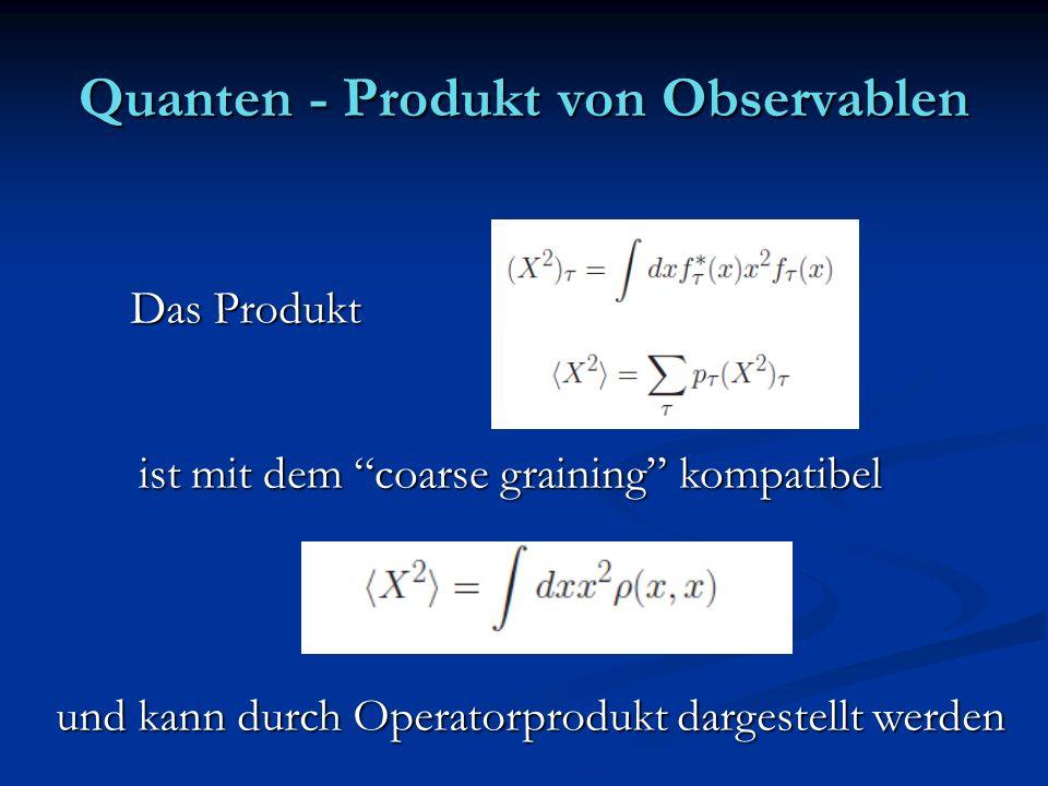 Quanten - Produkt von Observablen