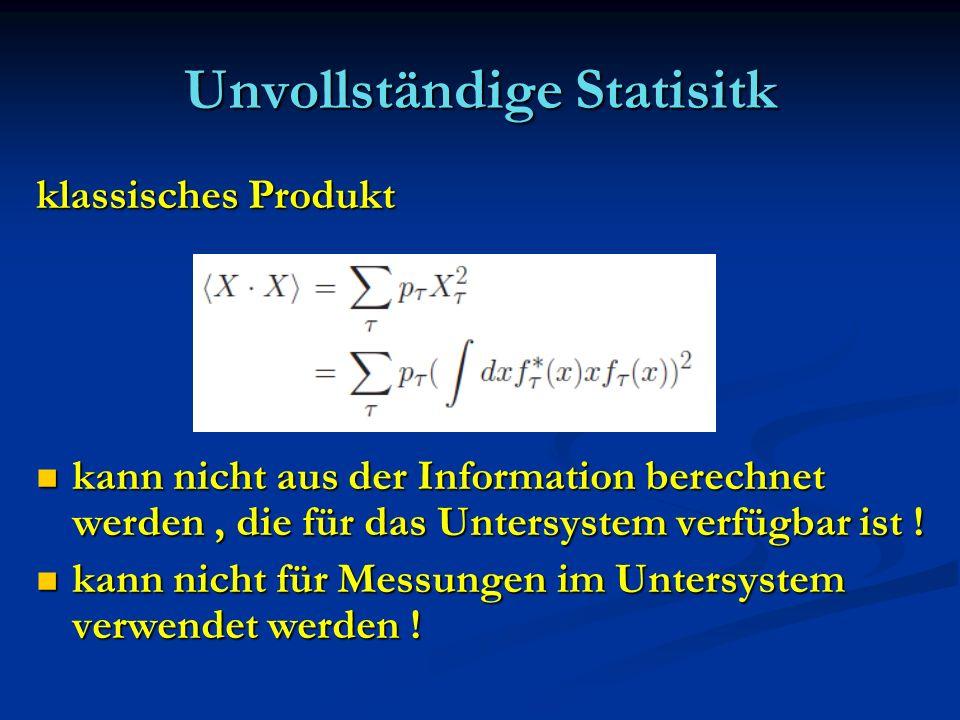 Unvollständige Statisitk
