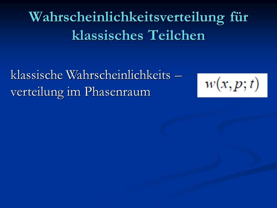 Wahrscheinlichkeitsverteilung für klassisches Teilchen