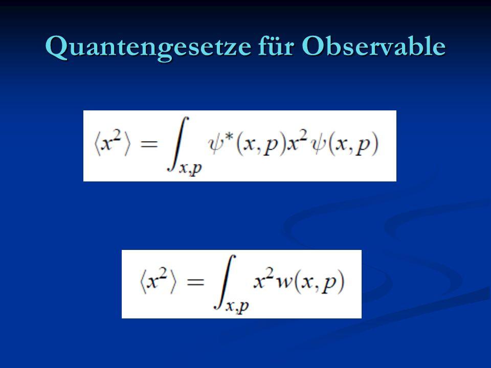 Quantengesetze für Observable