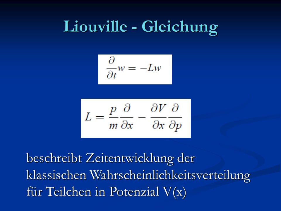 Liouville - Gleichung beschreibt Zeitentwicklung der
