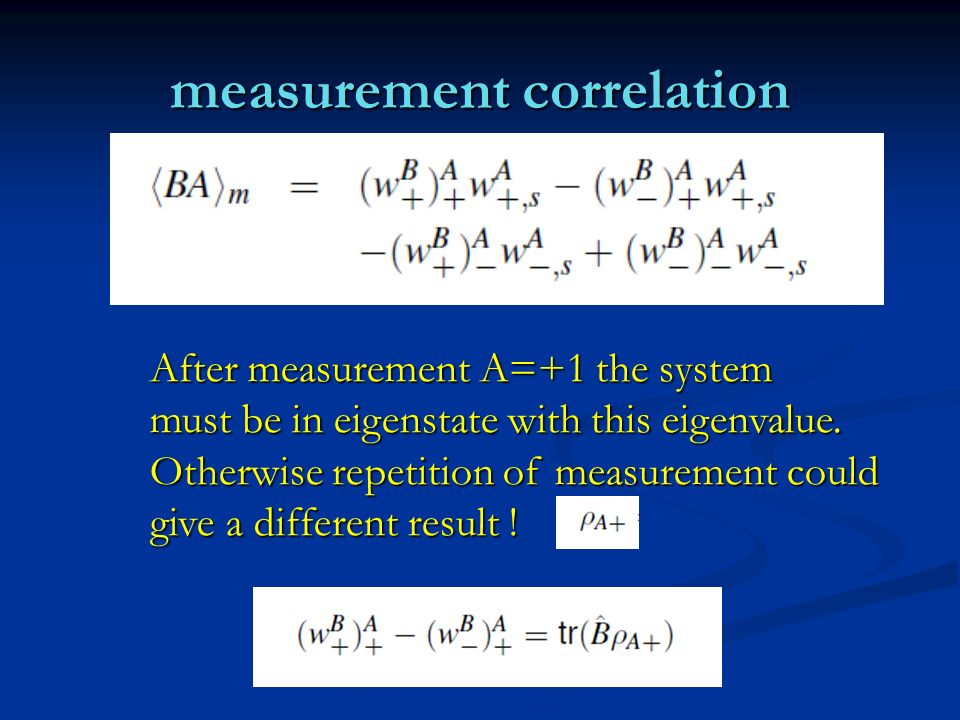measurement correlation
