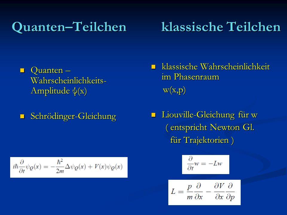 Quanten–Teilchen klassische Teilchen