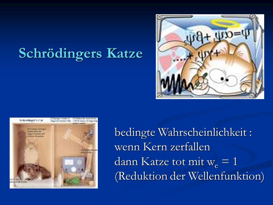 Schrödingers Katze bedingte Wahrscheinlichkeit : wenn Kern zerfallen