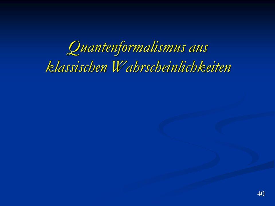 Quantenformalismus aus klassischen Wahrscheinlichkeiten