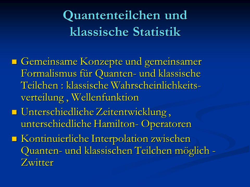 Quantenteilchen und klassische Statistik