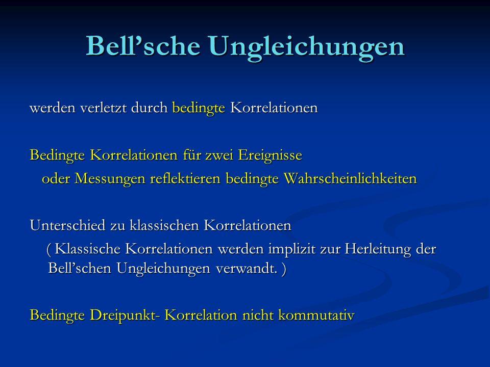 Bell'sche Ungleichungen