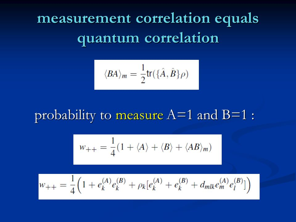 measurement correlation equals quantum correlation