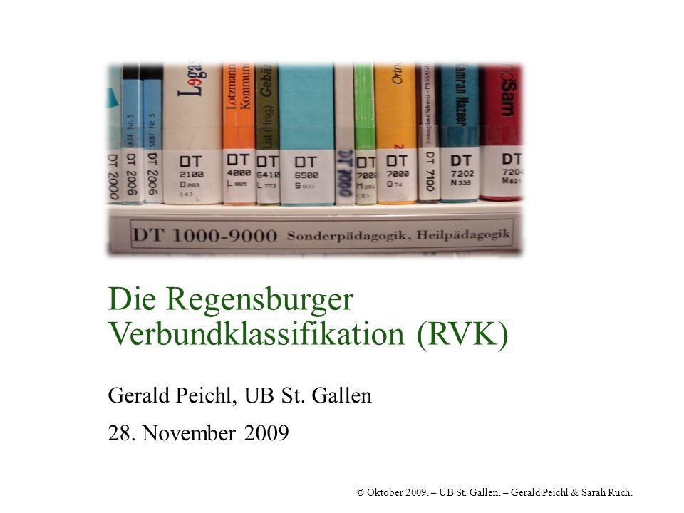 Die Regensburger Verbundklassifikation (RVK)
