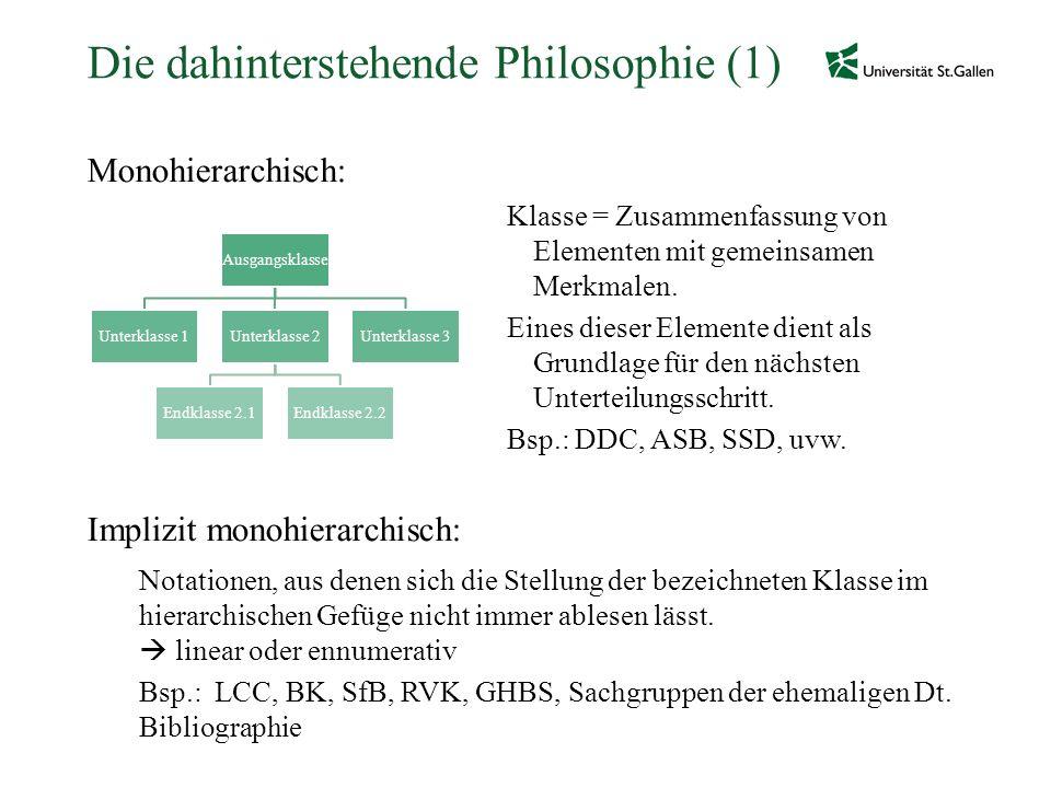 Die dahinterstehende Philosophie (1)