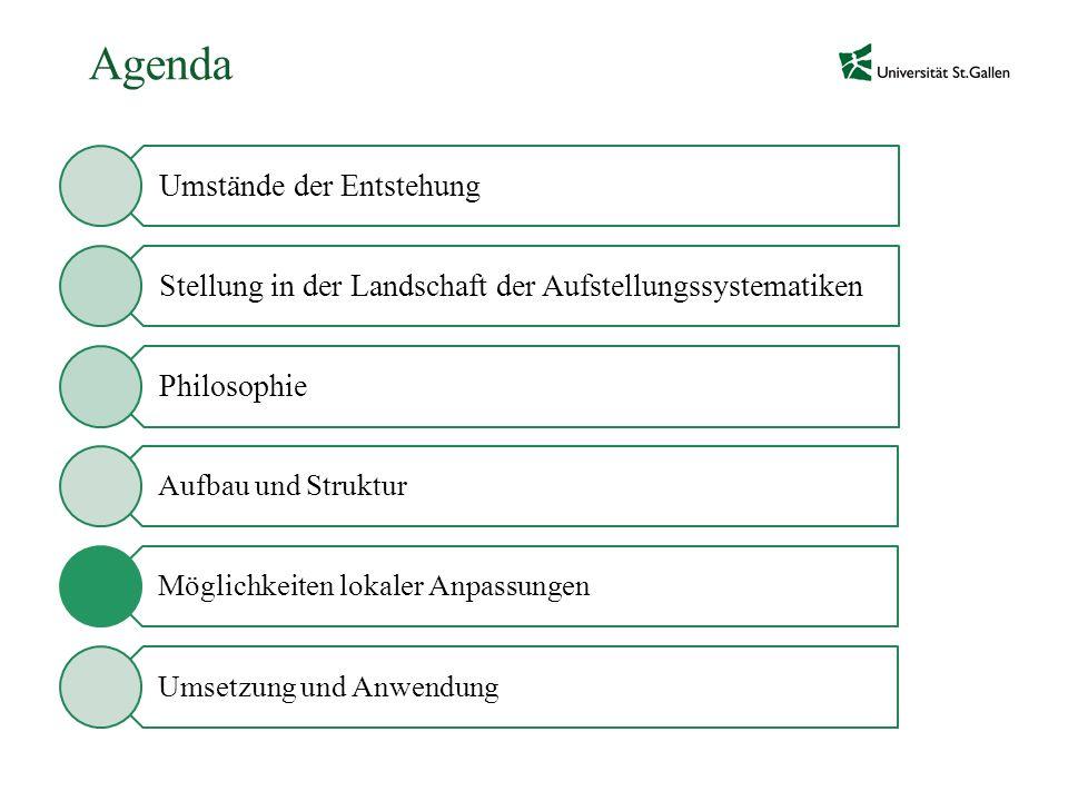Agenda Möglichkeiten lokaler Anpassungen Umsetzung und Anwendung