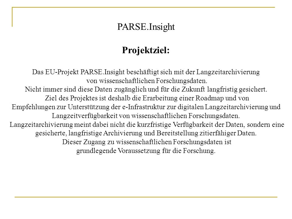 PARSE.Insight (