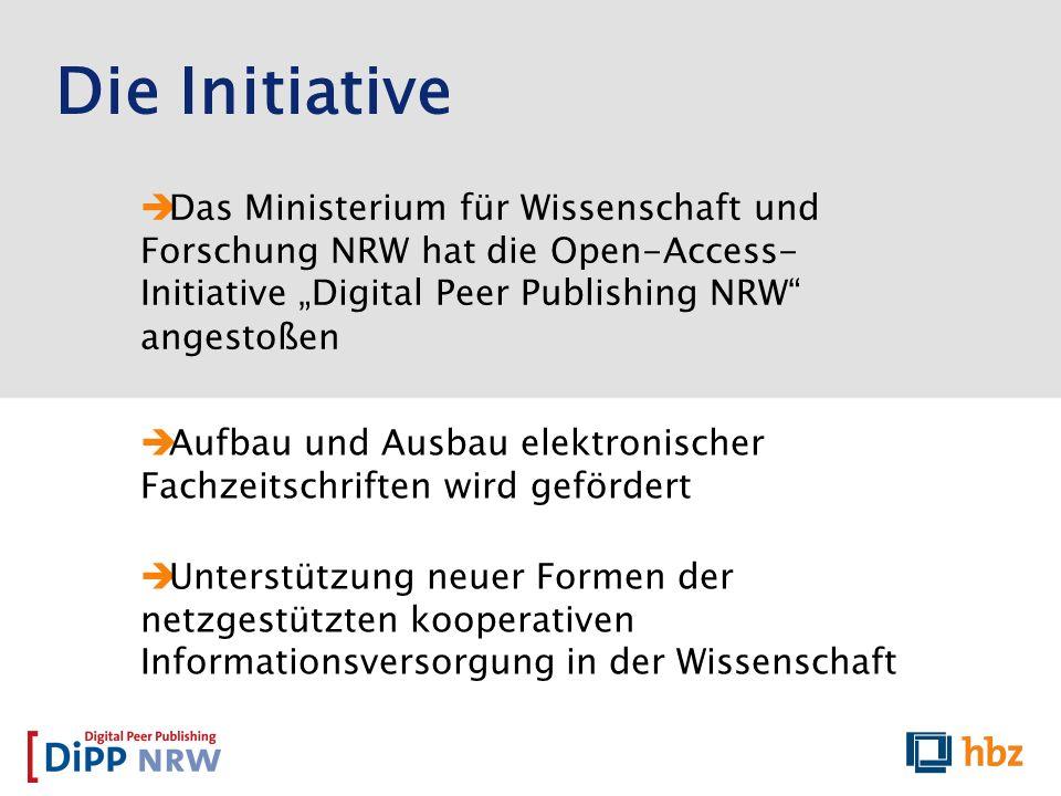 """Die Initiative Das Ministerium für Wissenschaft und Forschung NRW hat die Open-Access-Initiative """"Digital Peer Publishing NRW angestoßen."""