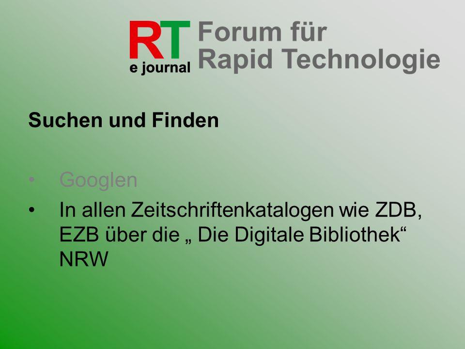Suchen und FindenGooglen.