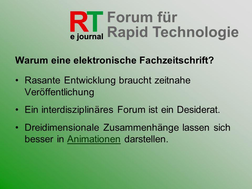 Warum eine elektronische Fachzeitschrift