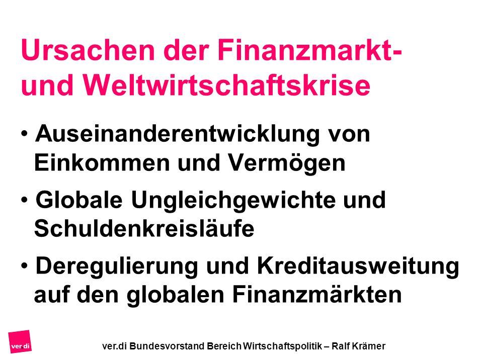 Ursachen der Finanzmarkt- und Weltwirtschaftskrise