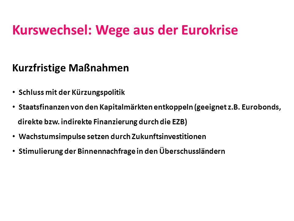 Kurswechsel: Wege aus der Eurokrise