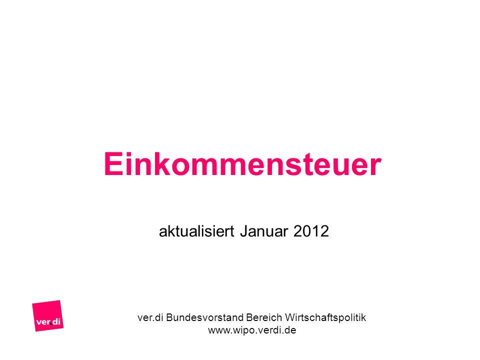 Einkommensteuer aktualisiert Januar 2012