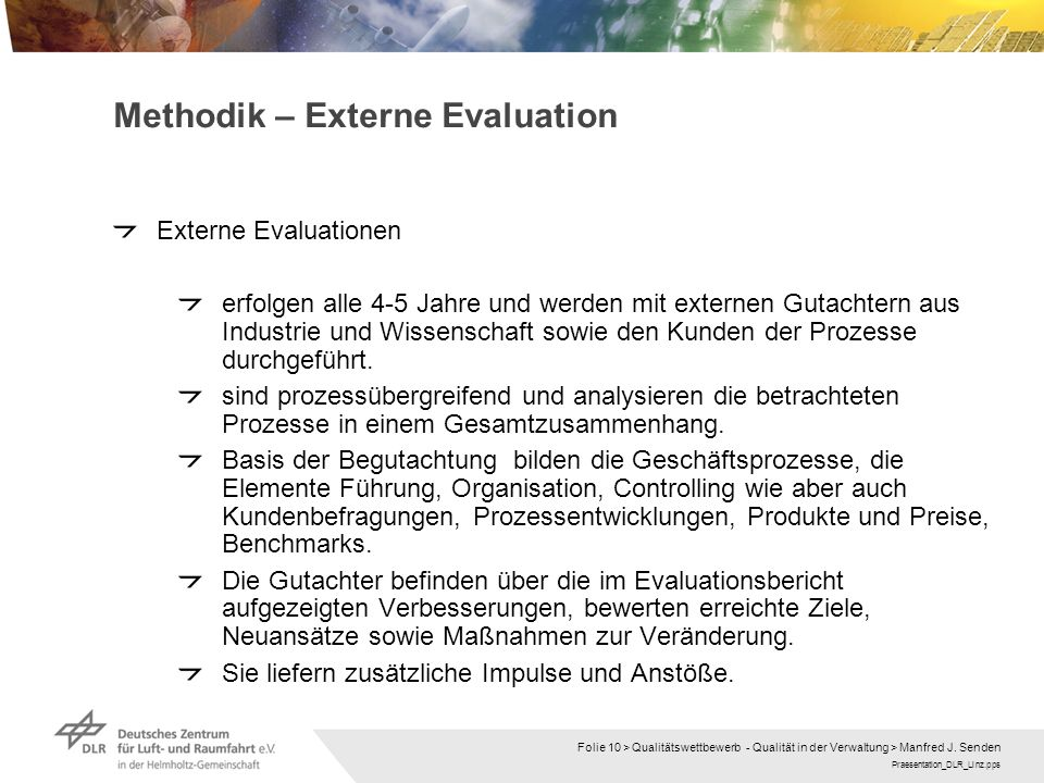 Methodik – Externe Evaluation